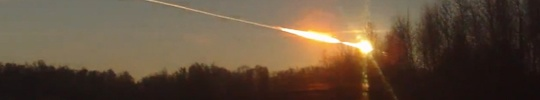 Did something else happen in the skies of Russia during the meteor crash?